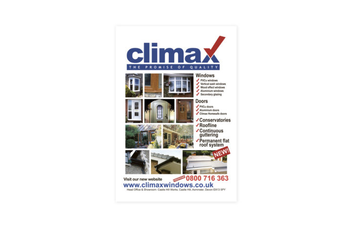 Climax quarter page advert