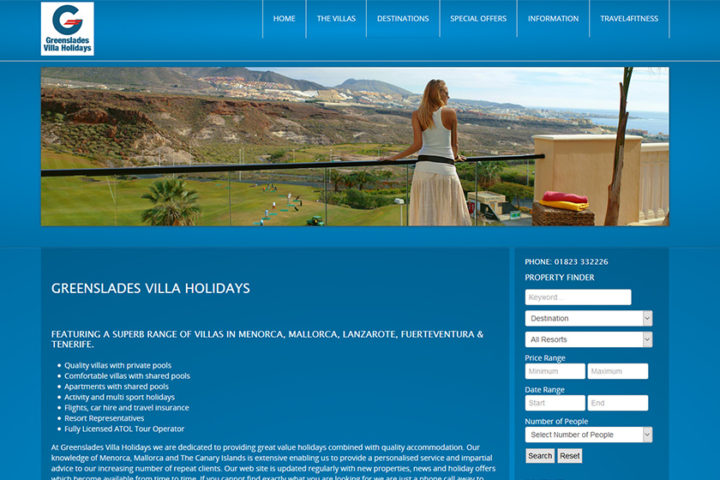 Greenslades Villa Holidays