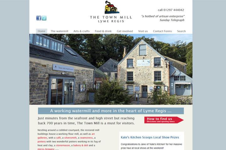 The Town Mill Lyme Regis website
